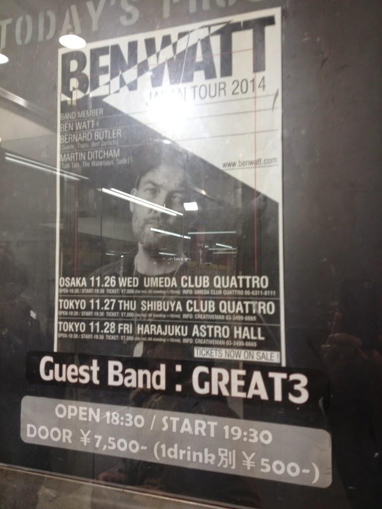 BEN WATT at 渋谷 Club Quattro